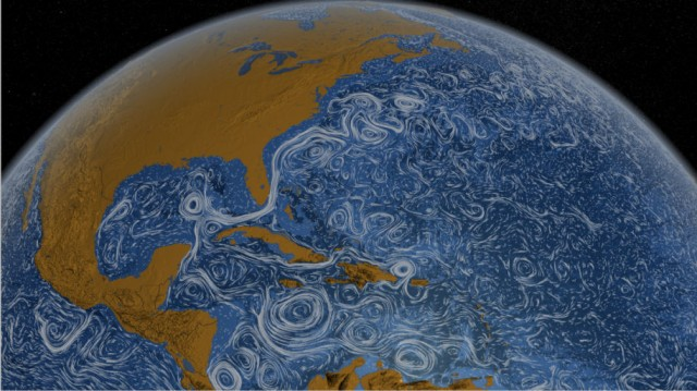 洋流形成的漩涡图案