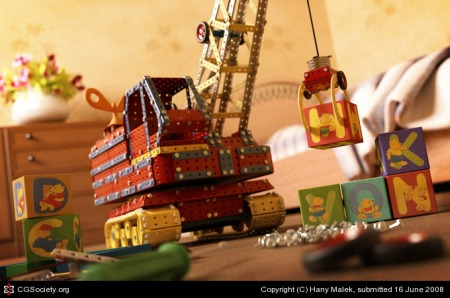 Hany Malek 绘制的Meccano模型3D效果图