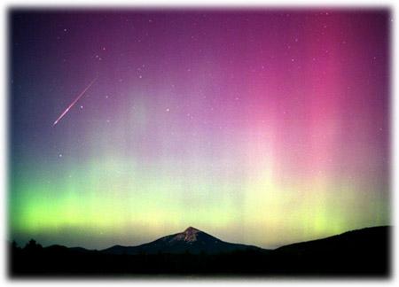 极光与流星