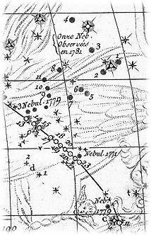 梅西耶绘制的室女座天区